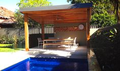 The contemporary look with clean lines and rich finishes has made these Free Standing Patio structures more popular than ever and although very simple in design all have a slight point of difference.