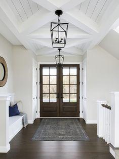 Welcoming open farmhouse entryway The Orono House   Bria Hammel Interiors