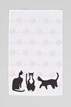 Cats + Yarn Tea Towel - Urban Outfitters
