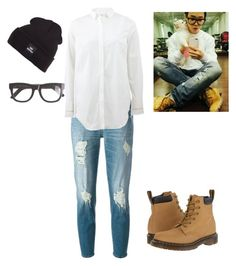 """""""BTS Jimin inspired outfit"""" by sineem-1999 on Polyvore featuring 7 For All Mankind, Brunello Cucinelli, Supra, Dr. Martens, J.Crew, women's clothing, women, female, woman and misses"""