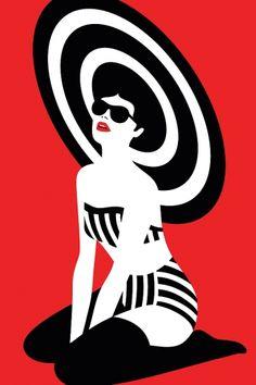 Graphic swimsuit, 2 color graphicgenius nel 2019 art, pop art e retro illus Art And Illustration, Illustrations Posters, Portrait Illustration, Fashion Illustrations, Arte Pop, Malika Fabre, Kunst Poster, Art Graphique, Grafik Design
