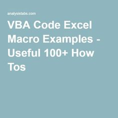 VBA Code Excel Macro Examples Useful Macros, Codes and How Tos explained - Basic Beginners, Advanced users. Excel Cheat Sheet, Vba Excel, Microsoft Excel Formulas, Excel Macros, I Need A Job, Computer Programming, Computer Tips, Basic Programming, Human Computer