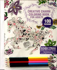Creative Charm Coloring Book For Adults Set is available at Scrapbookfare.