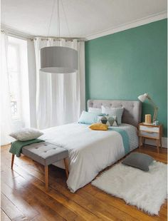 Turquoise Room Ideas - Well, how regarding a touch of turquoise in your room? Set your heart to see it due to the fact that this post will certainly give you turquoise room ideas. Table of Contents. Decor, Modern Bedroom, Small Room Bedroom, Home Bedroom, Bedroom Interior, Bedroom Decor, Home Decor, Room Decor, Home Deco