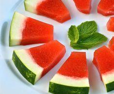 Watermelon Mint Jello Shots… in a Watermelon Rind! Cannot wait for Summer fun!