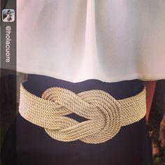 Cinturón nudo dorado INFINIT XXL  Pedidos a lazodeseda@gmail.com