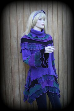 Pullover Sweater Art by justmystylerecycled on Etsy