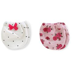 Just One You™Made by Carter's® Baby Girls' 2 Pack Floral Mittens - Pink/White NB…
