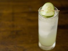 CUCUMBER GIN FIZZ   3 slices of cucumber, .5 oz lime juice, .5 oz simple syrup, 1.5 oz gin, 2 oz seltzer water   Muddle the cucumber in cocktail shaker with the lime juice & simple syrup until dissolved. Fill shaker with ice, add the gin & shake. Strain in collins glass with ice. Top off with seltzer water. Garnish with a cucumber slice.
