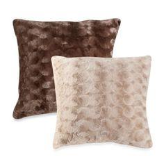 Crystal Fur Floor Cushion - BedBathandBeyond.com
