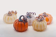 Gathered Art Gallery and Studios, Toledo, OH - Glass Pumpkins!