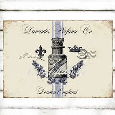 Vintage Lavender Large A4 Instant Digital Download by CreatifBelle