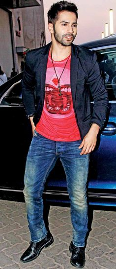 Varun Dhawan at a Valentine's Day special show. #Bollywood #Fashion #Style…