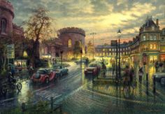 Carlisle, The Citadel by Twilight Signed Print by Graham Twyford Art After Dark, Art For Art Sake, Doodle Drawings, Carlisle, Lake District, Twilight, Online Printing, Contemporary Art, Original Paintings