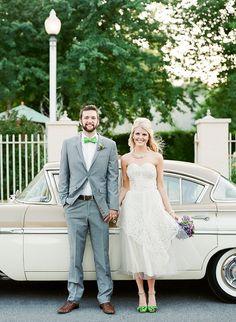 Sweet 1950s Inspired Wedding Ideas In Lavender Green