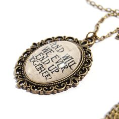 Sally's Song Quote Necklace The Nightmare Before by wonderlandnoir, €19.00