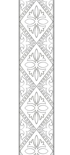 Border Embroidery Designs, Floral Embroidery Patterns, Lace Patterns, Quilt Patterns, Graphic Design Portfolio Examples, Broderie Simple, Folk Art Flowers, Hand Embroidery Dress, Wreath Drawing