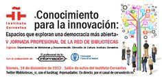 Cartel de la V Jornada Profesional de la RBIC 2012: Conocimiento para la innovación