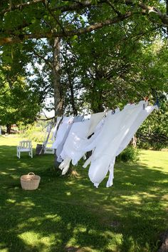laundry on the line - remember how fresh and clean those sheets smelled