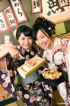 Experiencing Japanese culture simply in Japanese Izakaya^^  #hananomai #kyoto #japan #japankuru #cooljapan #izakaya #culture #kimoto #yukata