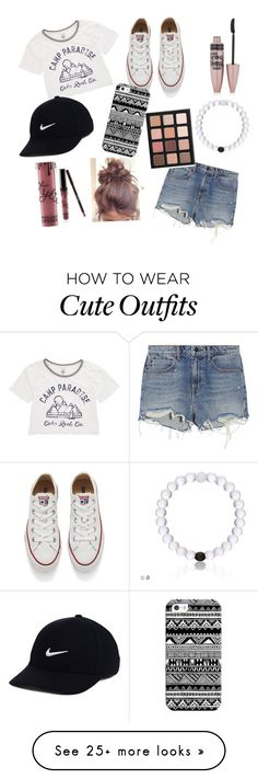 """Camp outfit"" by mariah-yiah on Polyvore featuring Billabong, Alexander Wang, Maybelline, Converse, Casetify and NIKE"
