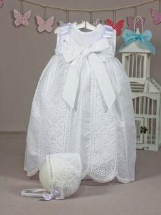 faldon bebe bautizo plumeti blanco