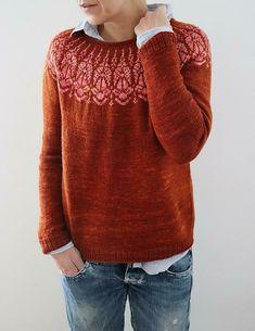 Chauncey sweater Knitting pattern by Isabell Kraemer – Knitting Patterns Fair Isle Knitting Patterns, Christmas Knitting Patterns, Sweater Knitting Patterns, Knit Sweaters, Icelandic Sweaters, Knitting Ideas, Knitting Projects, Universal Yarn, Plymouth Yarn