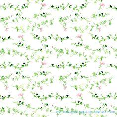 plant watercolor pattern