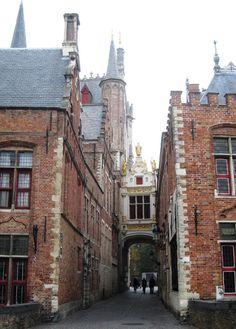 Blind Donkey Street, Bruges, Belgium