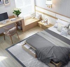 7 tricks alle designer verwenden ihr schlafzimmer make teure schauen... Elegant Bedroom Design, Small Bedroom Designs, Bedroom Design Minimalist, Bedroom Interior Design, Small Master Bedroom, Teen Bedroom, Girl Bedrooms, Master Bath, Comfy Bedroom