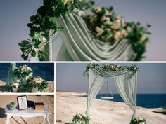 Wedding decoration of sea style wedding in cyprus wedding wedding decoration cyprus junglespirit Images