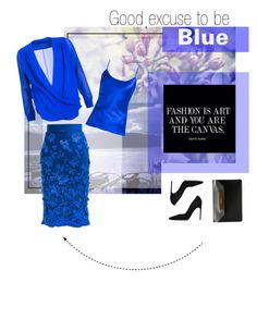 """To be blue"" by firstboutique ❤ liked on Polyvore featuring NOVICA, Ermanno Scervino, Brian Atwood and Balenciaga"