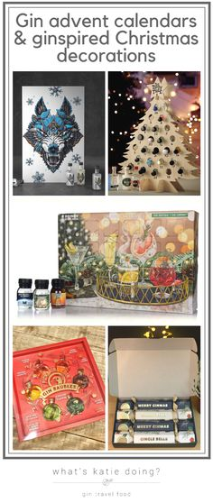 Gin advent calendars & ginspired Christmas decorations