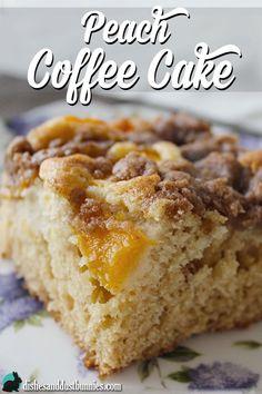 Peach Coffee Cake from dishesanddustbunnies.com