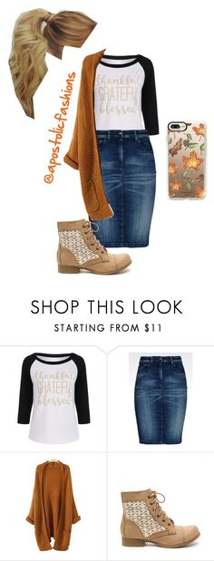 """Apostolic Fashions #1816"" by apostolicfashions ❤ liked on Polyvore featuring Armani Jeans and Casetify"