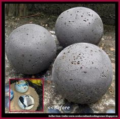 Dollar Store Crafter: Use Dollar Store Rubber Balls To Make Hypertufa Co...