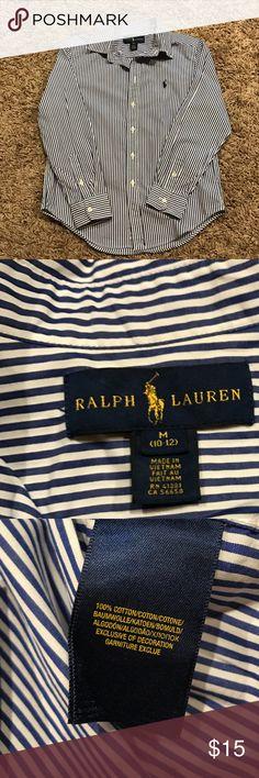 Boys Button Down Shirt Boys Polo button down shirt - size medium 10/12 Polo by Ralph Lauren Shirts & Tops Button Down Shirts