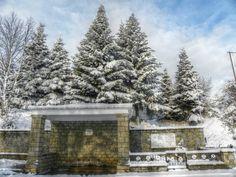 Snow and spring by Kosmas Karachles on Macedonia, Snow, Spring, Outdoor, Outdoors, Outdoor Living, Garden, Fruit Salad, Eyes