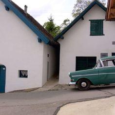 Kellergasse im Weinviertel Vienna Woods, Travel Music, Austria, Garage Doors, Spaces, Outdoor Decor, Life, Home Decor, Wine