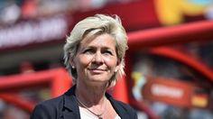 Head coach Silvia Neid of Germany looks on