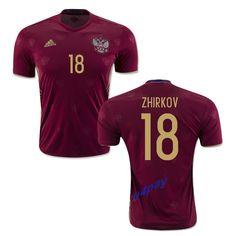 77d1e054a Yuri Zhirkov 18 2018 FIFA World Cup Russia Home Soccer Jersey