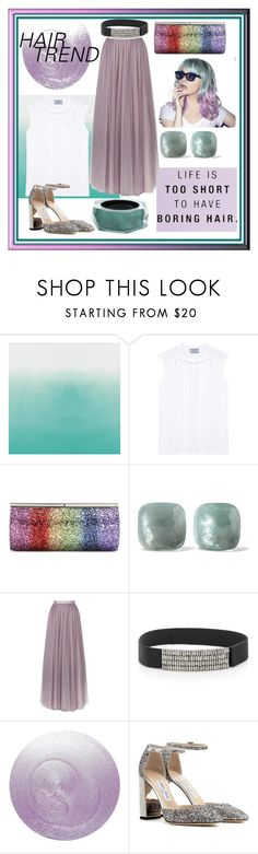 """Pastel Babe"" by jess0112 ❤ liked on Polyvore featuring beauty, Prada, Jimmy Choo, Pomellato, Needle & Thread, Marni, Deborah Lippmann, Alexis Bittar, hairtrend and rainbowhair"
