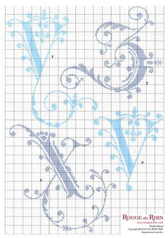"""Medieval cross stitch alphabet """"Rogue de Rhine"""" 4 - #4"""
