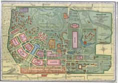 """Ground Plan of the Louisiana Purchase Exposition, 1904."" (1904 World's Fair). Missouri History Museum"