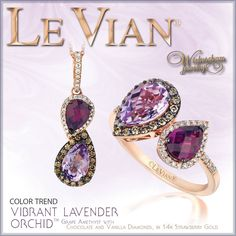 Vibrant grape amethyst, chocolate, vanilla and strawberry. I'll take one!