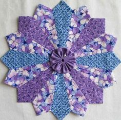 6 Dresden Plate Patchwork Quilt Blocks 10 inches by SidelineQuilts, $23.99