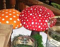 Willy Wonka-like Mushroom Decor Tutorial