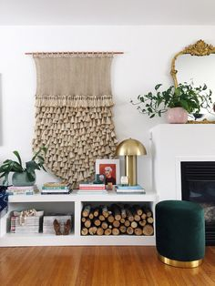 cozy layered accessories in the living room