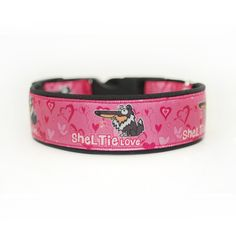 Obojek Blackberry   Collar by Blackberry #sheltie #pink #love #collar #design #blackberry #ruzova #obojek #heart #srdce