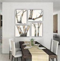 Oversized Long Large Wall Art Tree Trunks Fine Art Very Large - Large artwork for living room